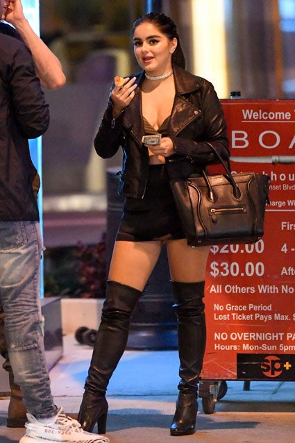 Ariel Winter in thigh highs at BOA