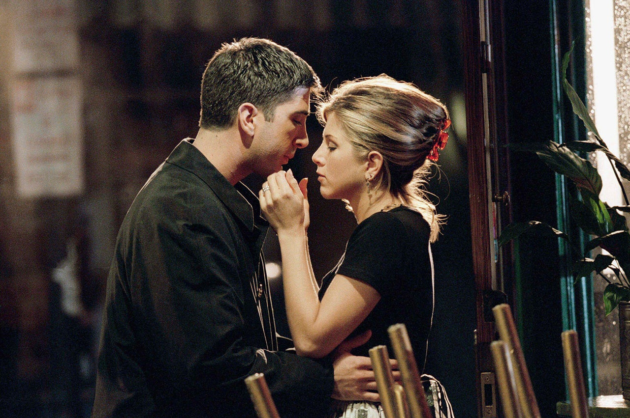 Ross and Rachel on Friends