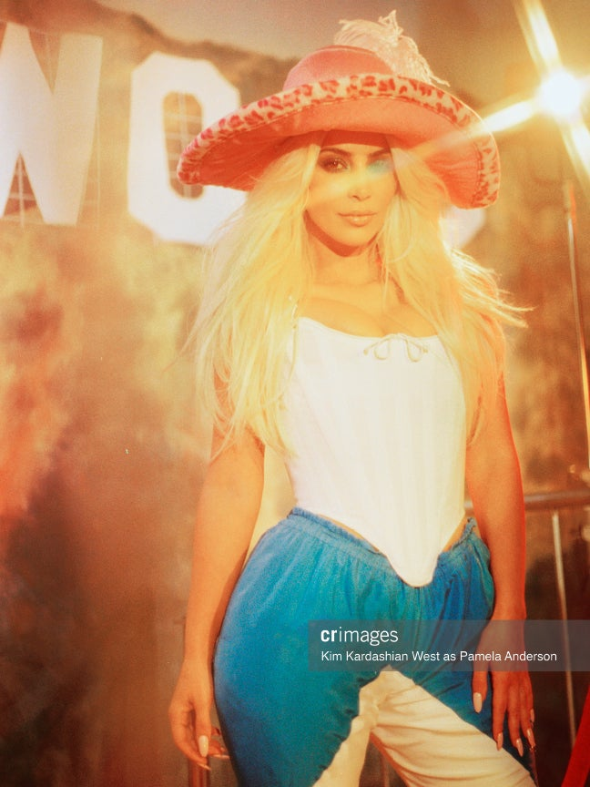 Kim Kardashian Channels Pamela Anderson and Lil' Kim for 'CR Fashion Book' -- See the Pics!