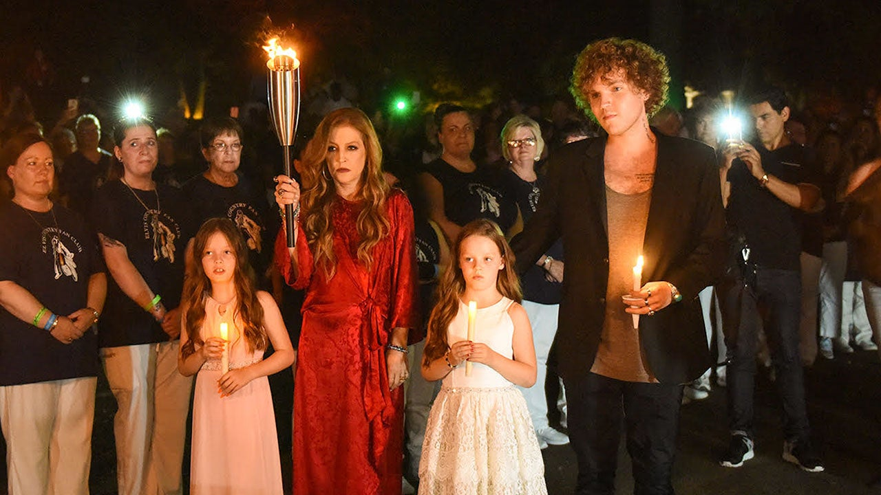 Lisa Marie Presley and Her Children Pay Tribute to Elvis at