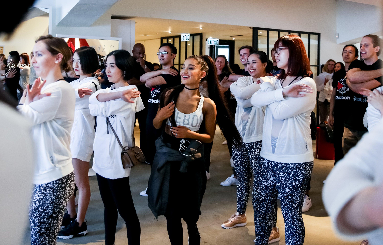 Ariana Grande x Reebok in Hong Kong