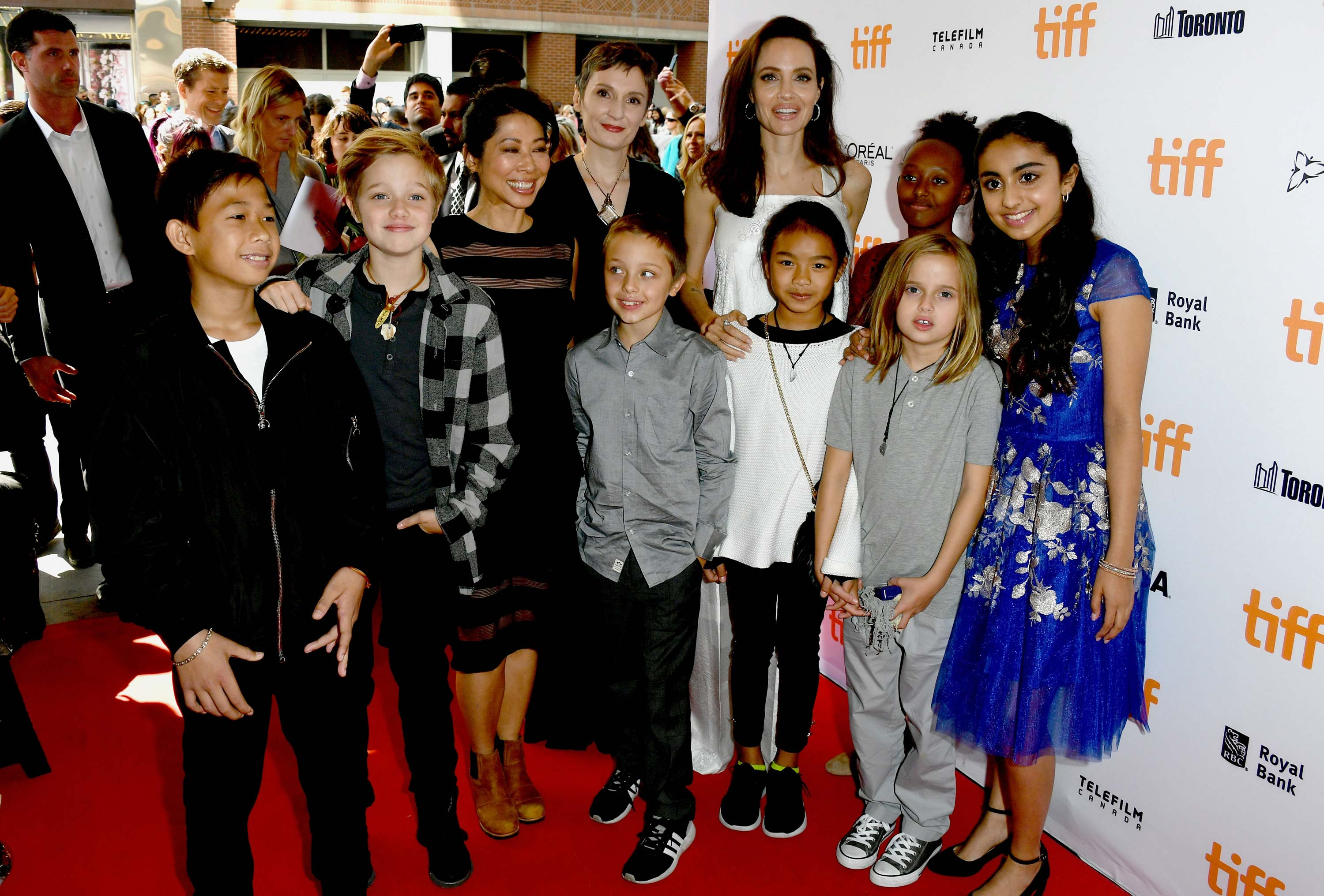 Angelina Jolie and Her Family at the Toronto International Film Fest