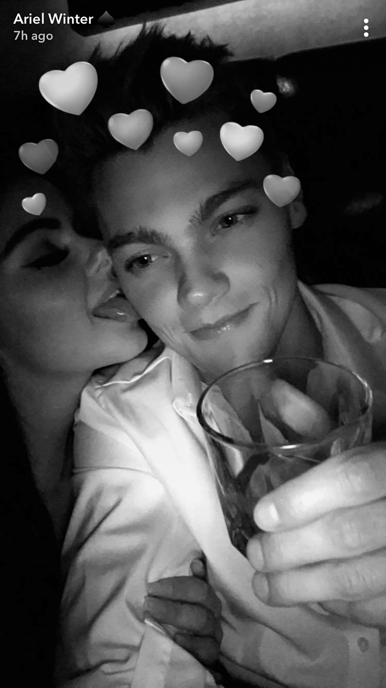 Ariel Winter and Levi Meaden PDA