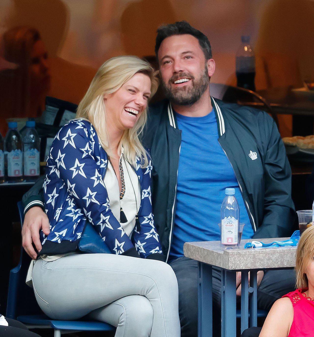 Lindsay Shookus and Ben Affleck at the US Open