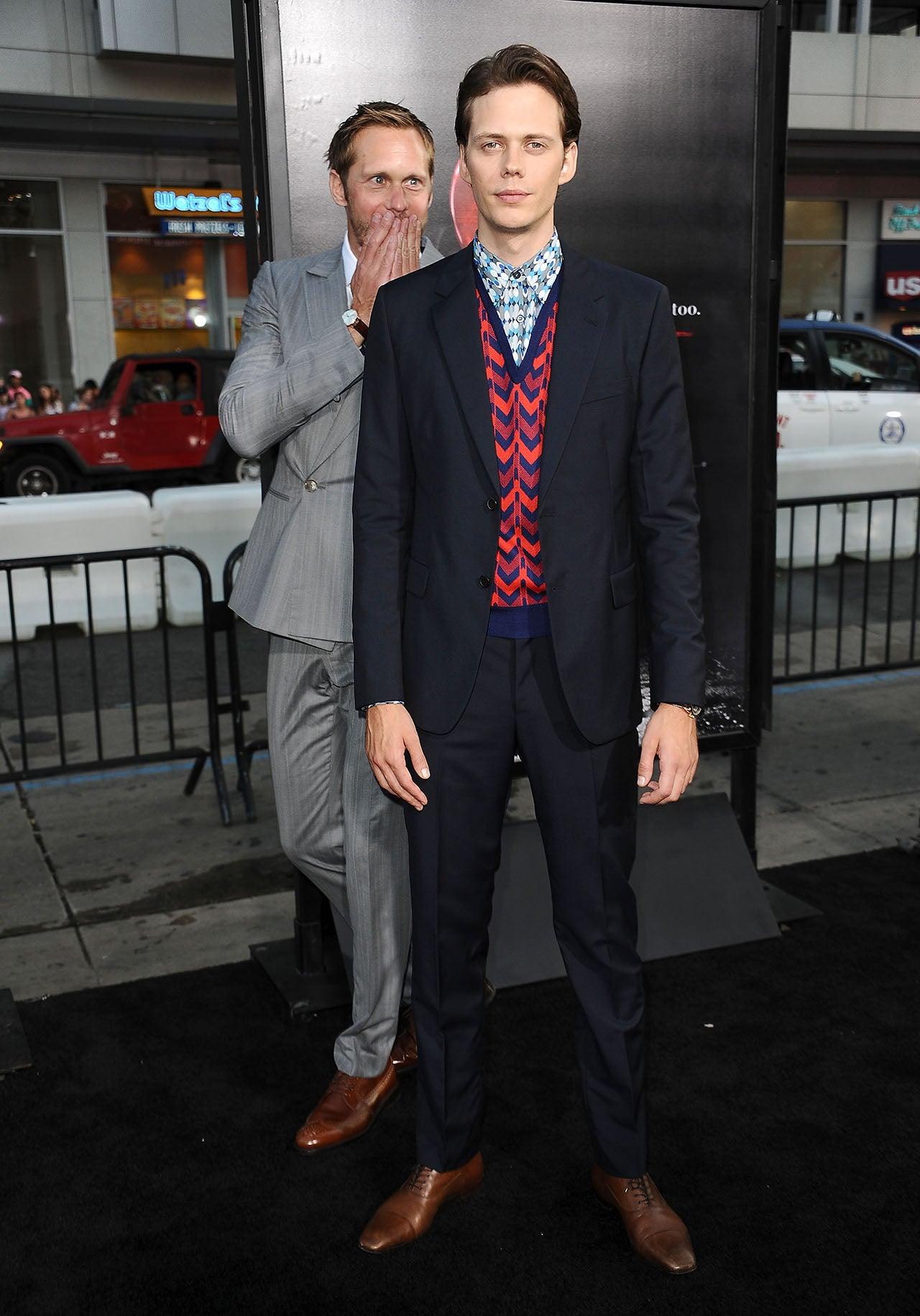 Alexander and Bill Skarsgard at 'It' premiere