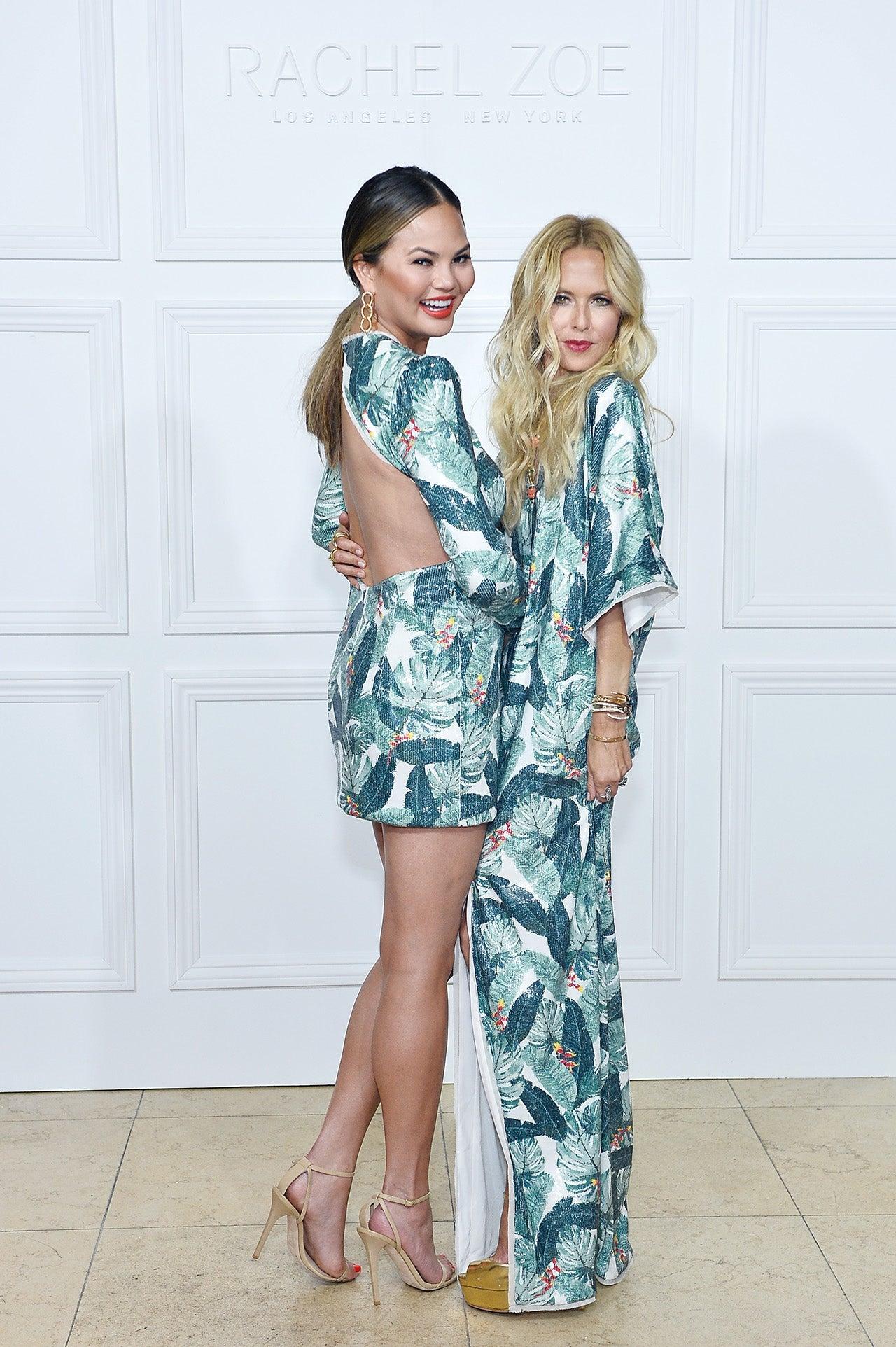 Chrissy Teigen Attends Rachel Zoe S Fashion Show In The