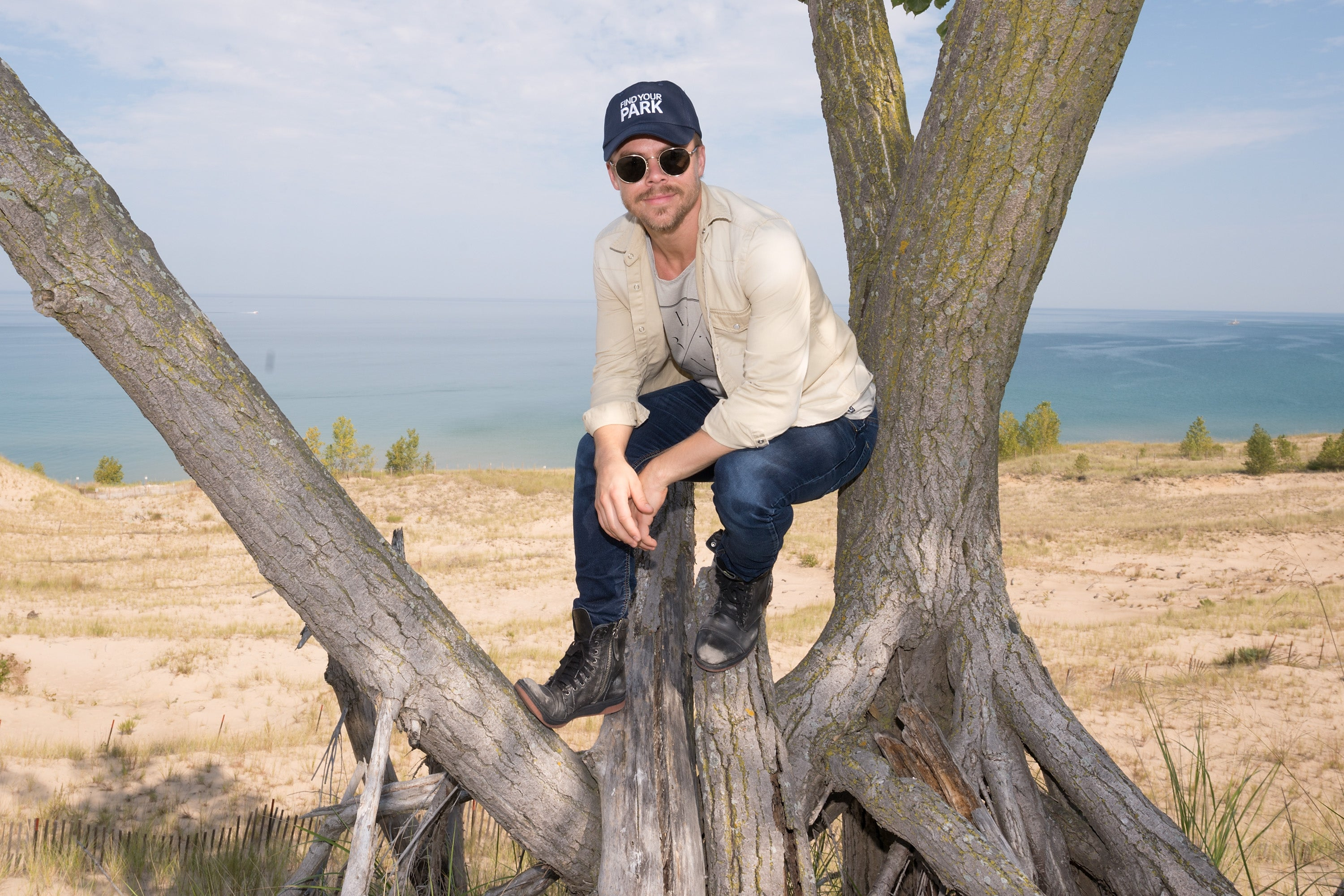 Derek Hough at Indiana Dunes National Lakeshore