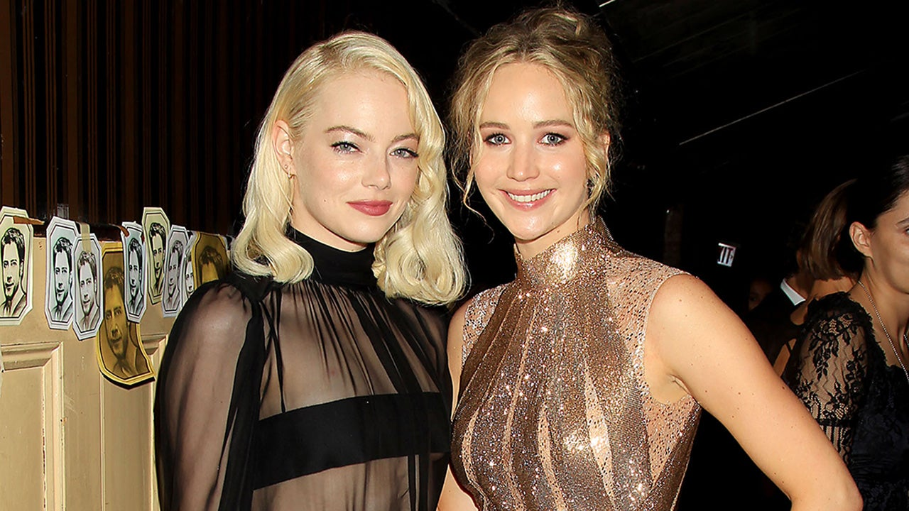 Emma Stone Goes Glam In See Through Top To Support Pal