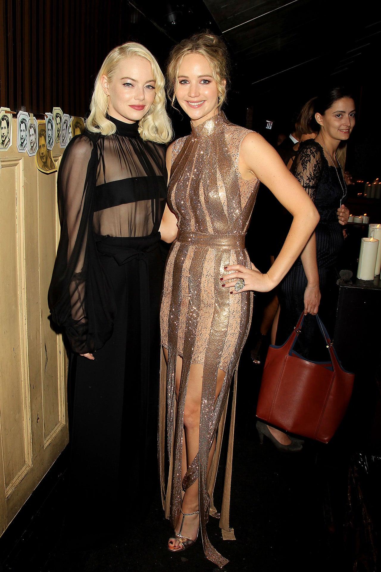 Emma Stone and Jennifer Lawrence reunite