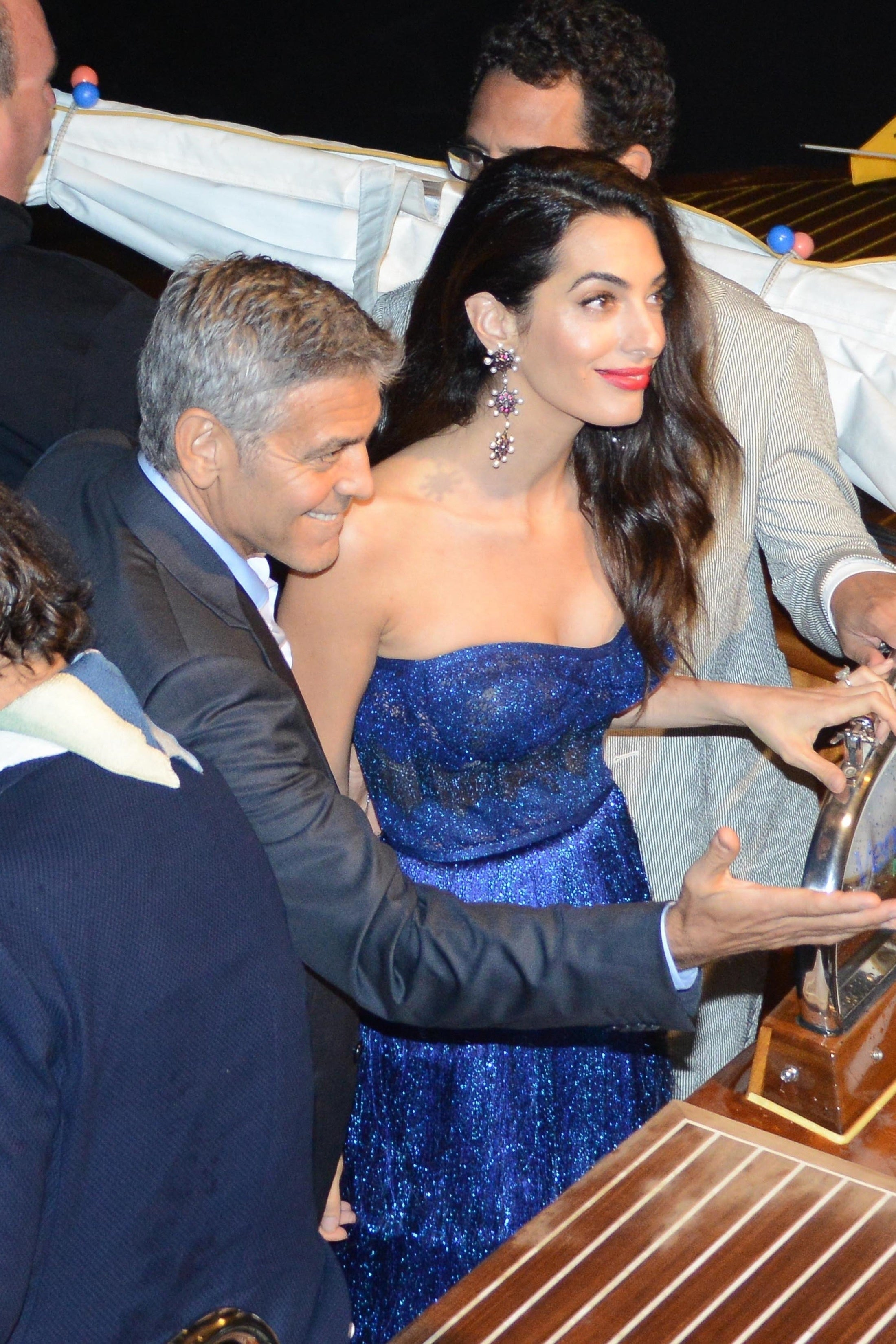 George And Amal Clooney Go Glam At Elegant Dinner With