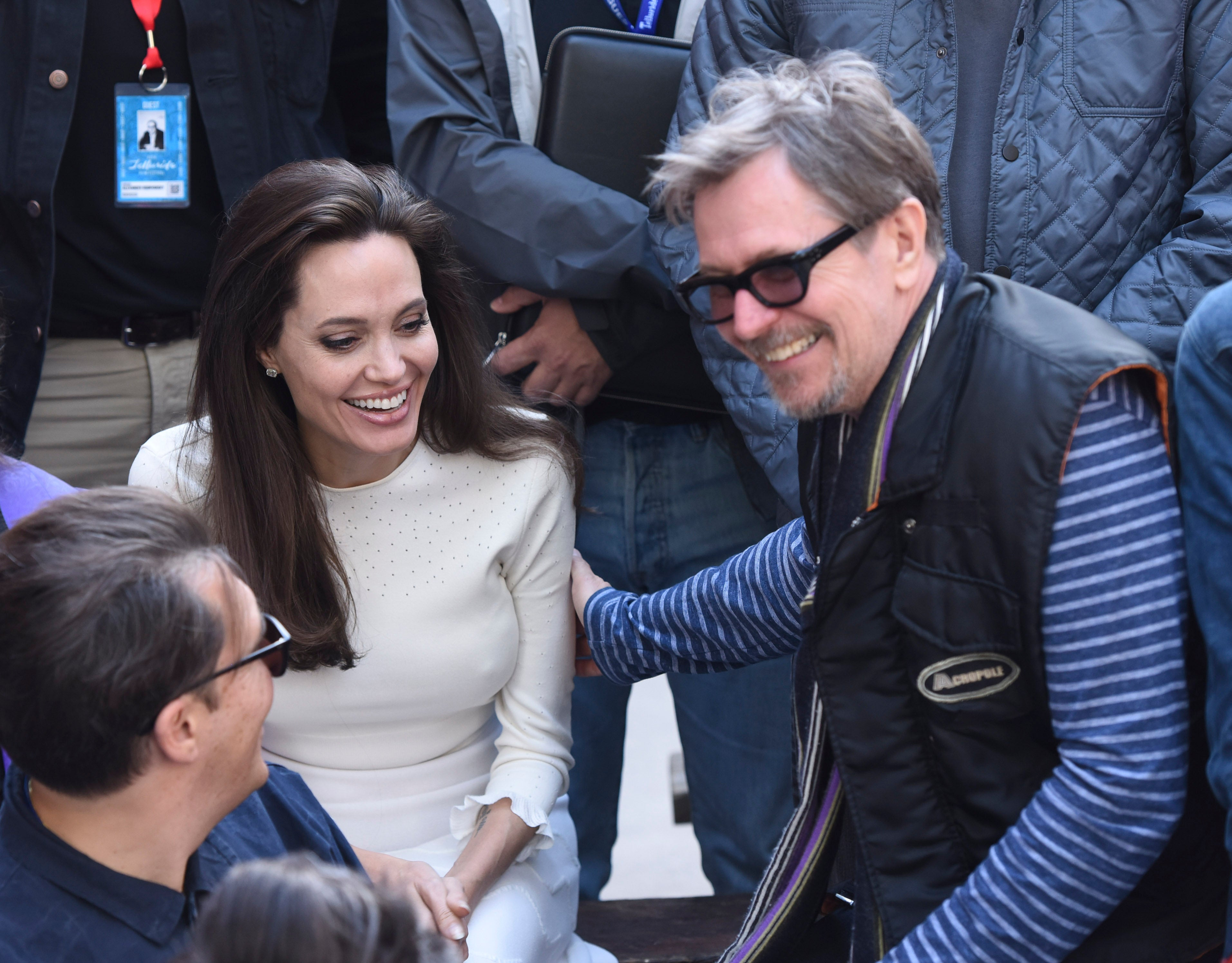 Angelina Jolie Receives Warm Welcome At Telluride Film