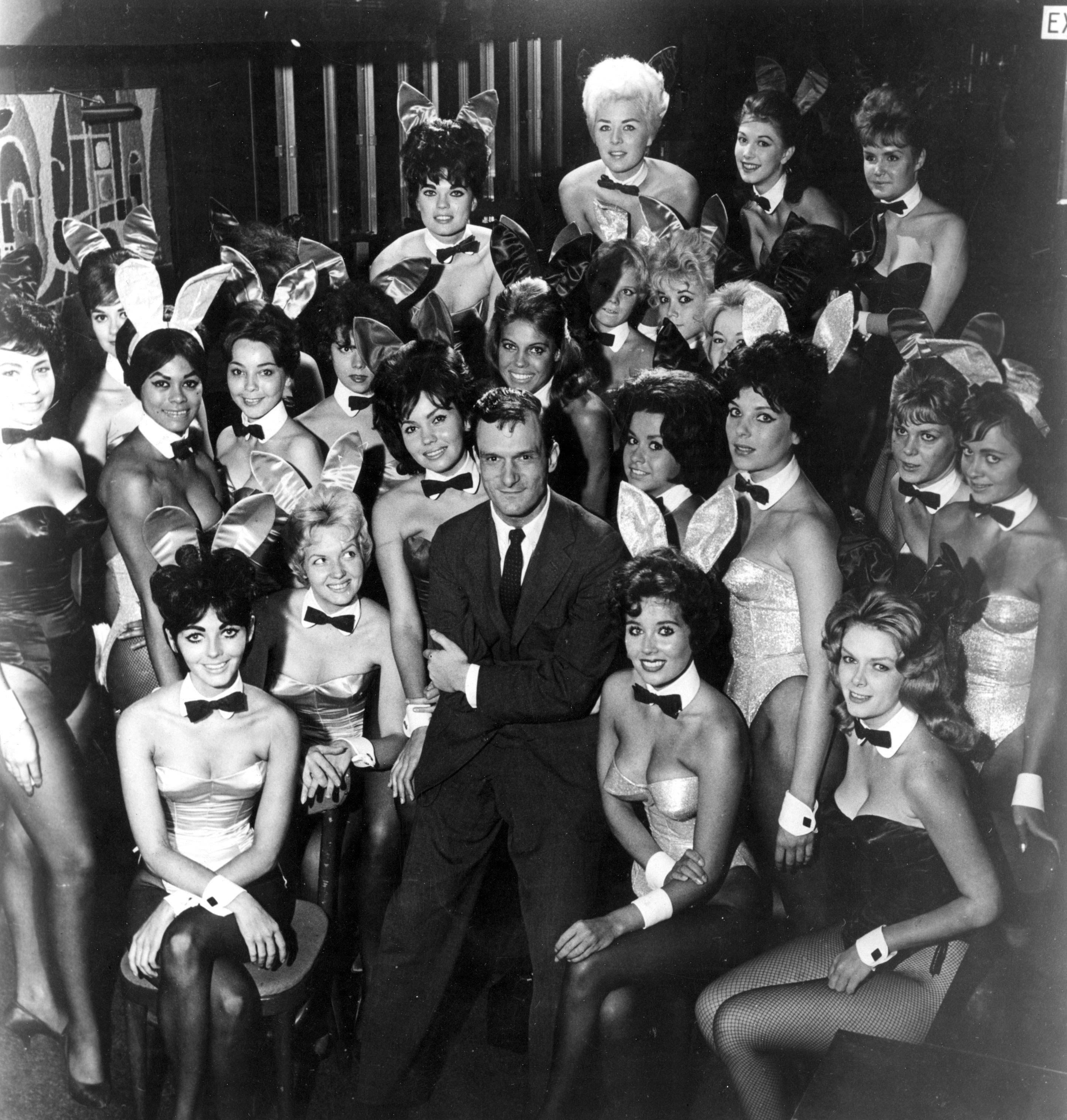Hugh Hefner at a Playboy Club in 1962