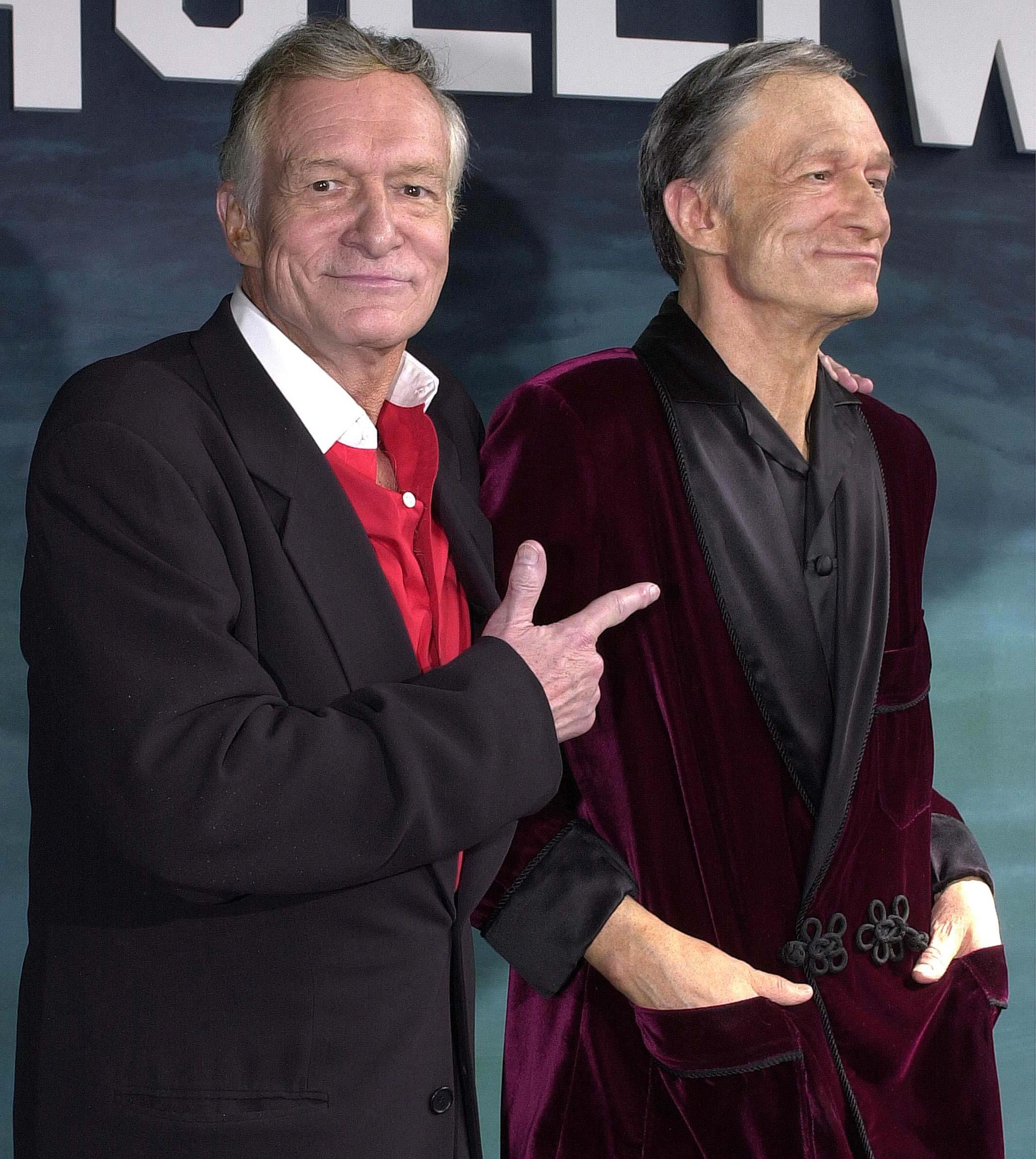Hugh Hefner at the Hollywood Wax Musuem