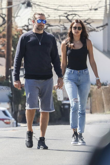 Bradley Cooper and Irina Shayk in Malibu