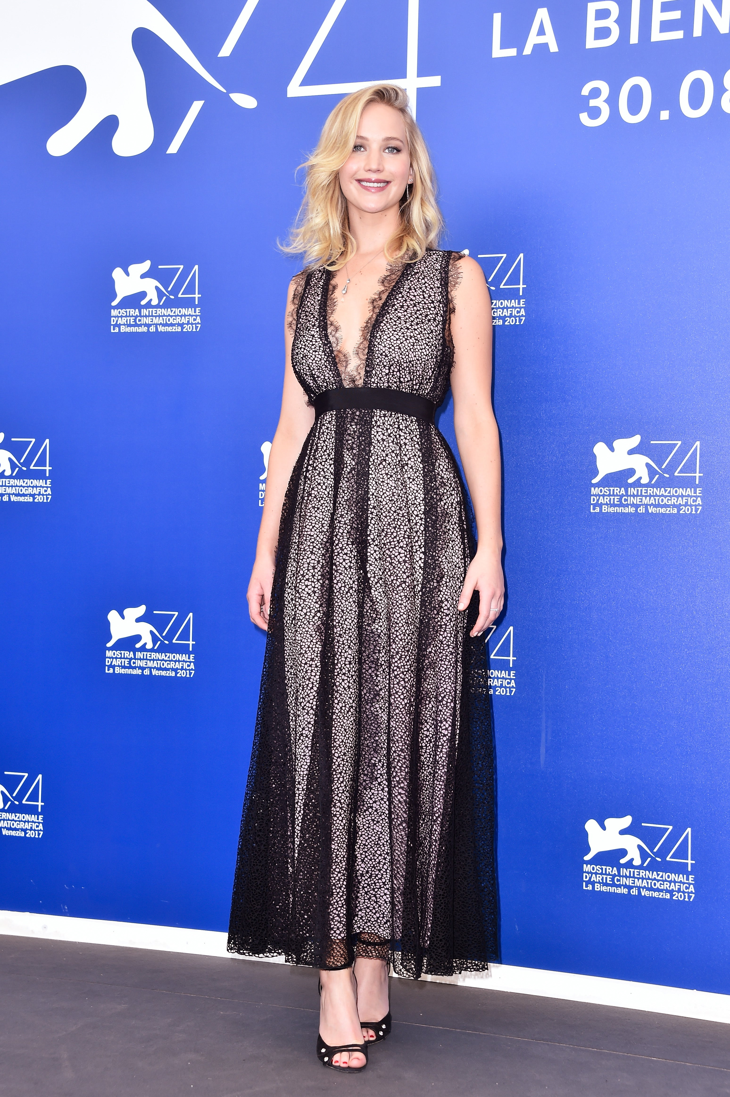 Jennifer Lawrence Slays In Polka Dot Gown At Mother
