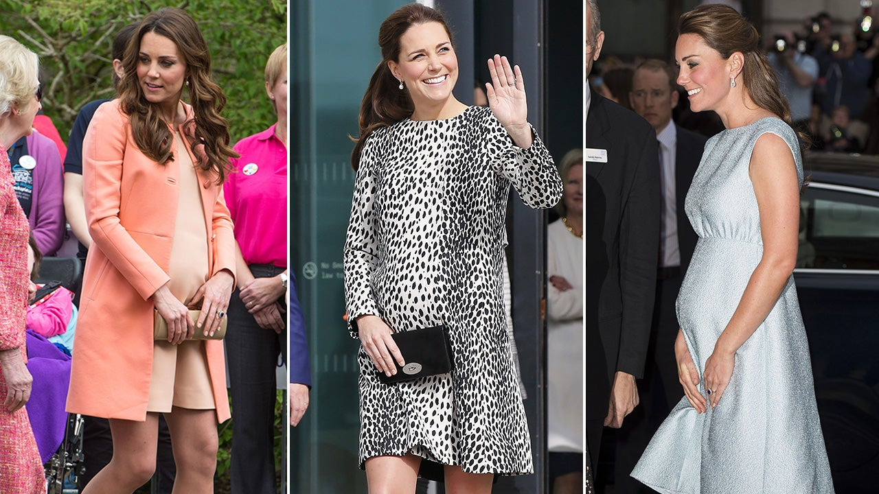 Kate Middleton S Top 10 Pregnancy Looks See Her Regal Maternity Fashion Entertainment Tonight