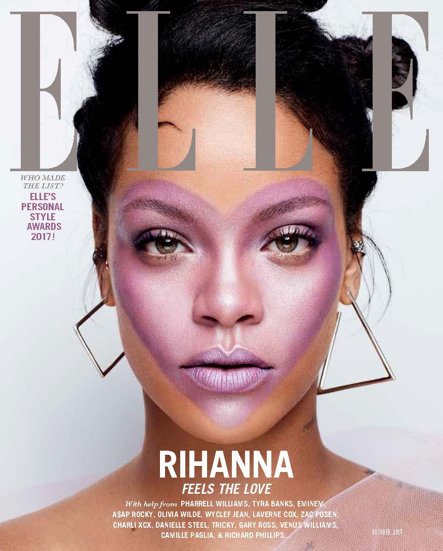 rihanna feels the love in stunning elle covers
