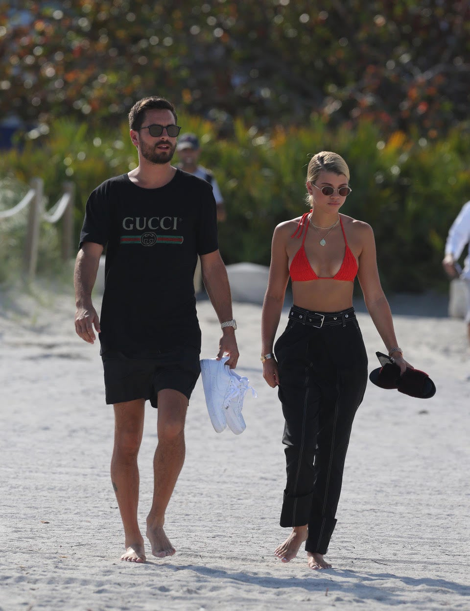 Scott Disick, Sofia Richie spotted kissing at celebratory dinner