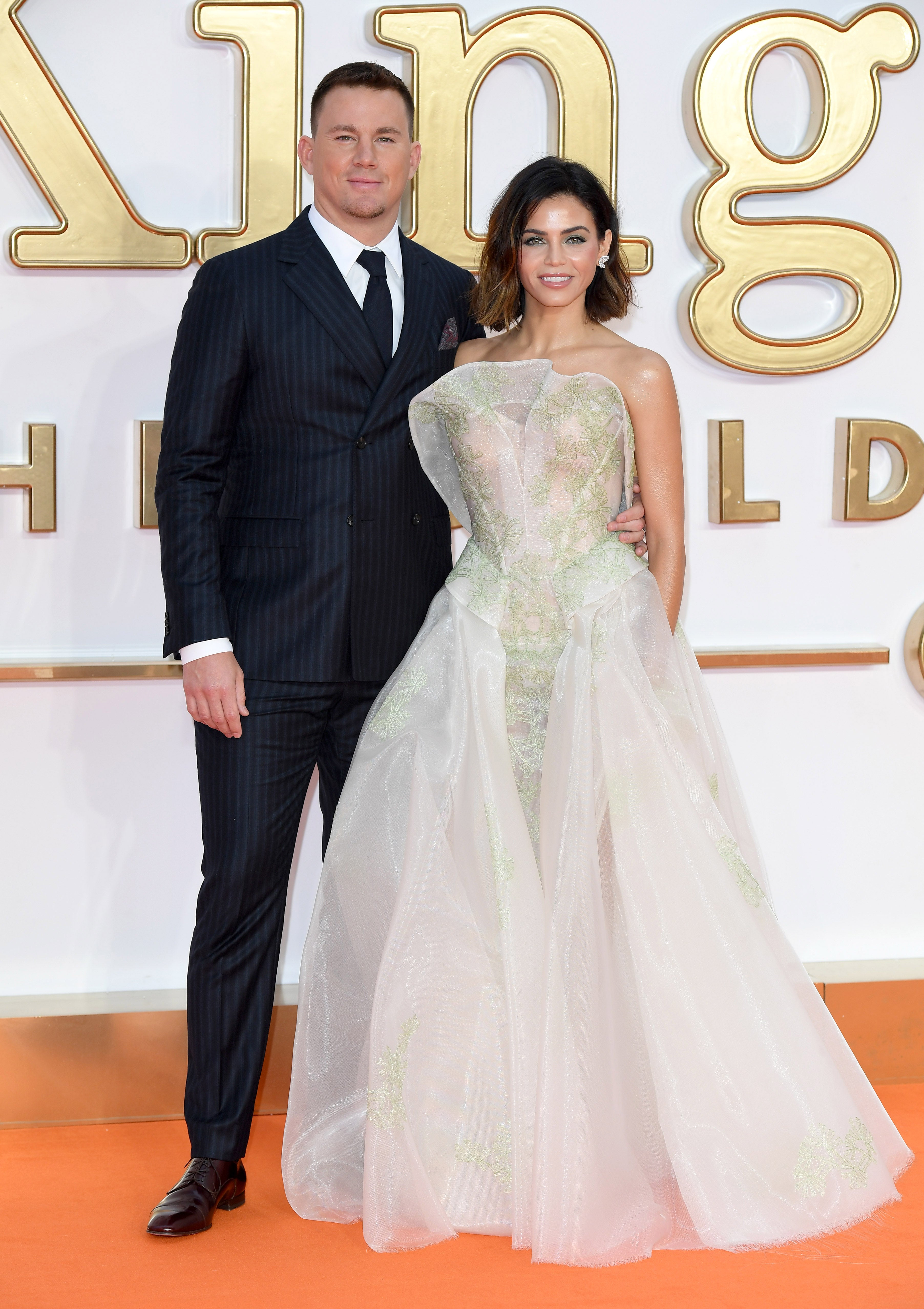 EXCLUSIVE Channing Tatum Praises Wife Jennas Booty As She Stuns At Kingsman The Golden Circle Premiere