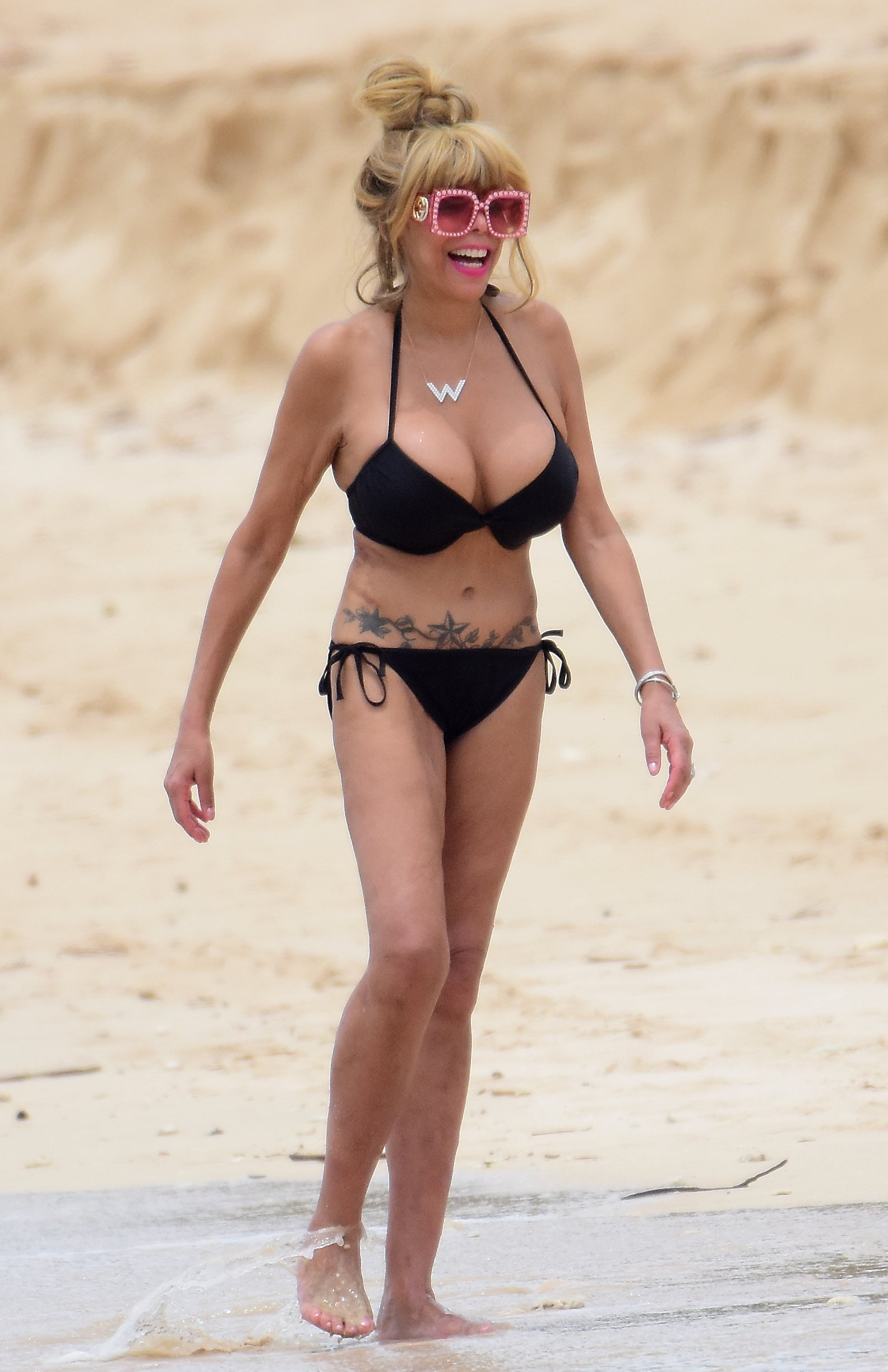 Wendy Williams in a bikini in Barbados