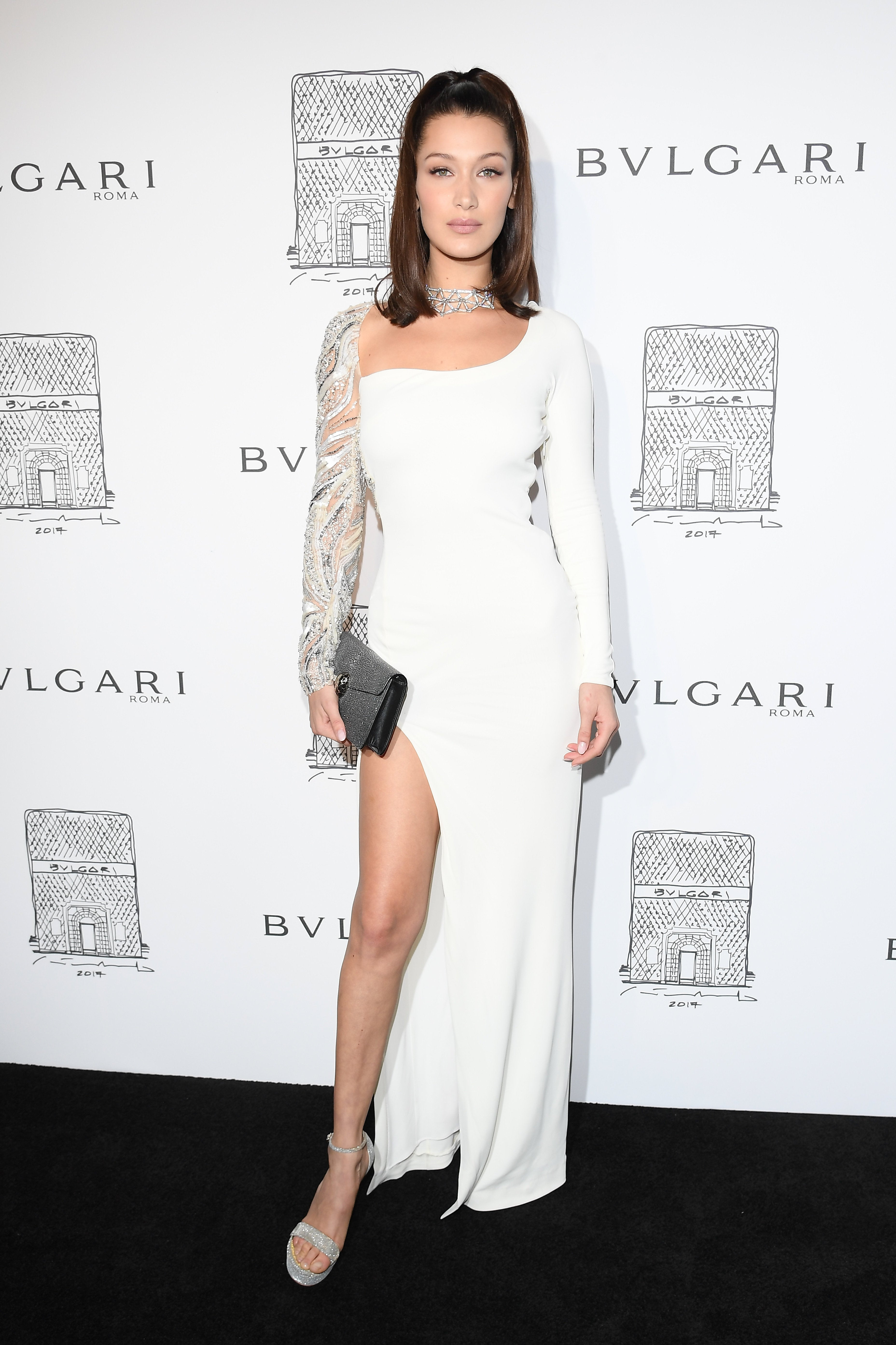 Bella Hadid at Bvlgari store re-opening