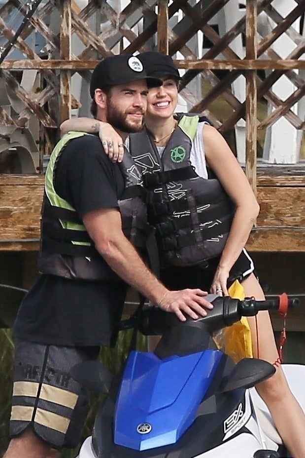 Miley Cyrus and Liam Jet Ski