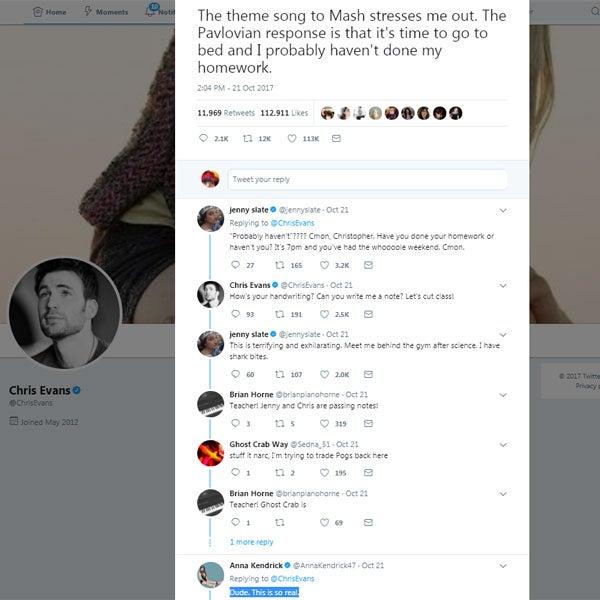 Chris Evans tweet