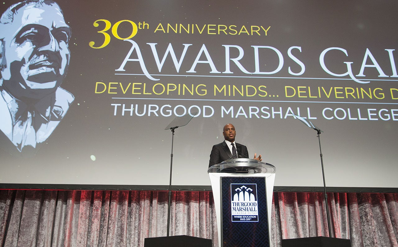 Kevin Frazier at Thurgood Marshall College Fund Gala