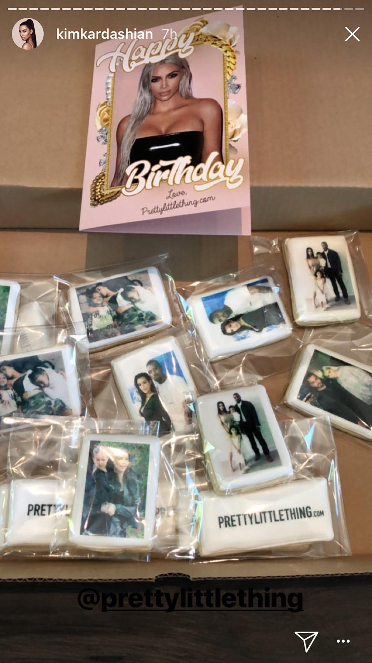 Kim Kardashian birthday cookies