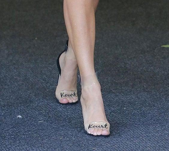 Kourtney Kardashian's name heels