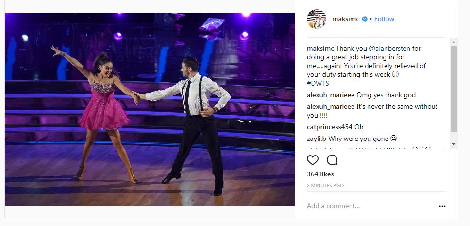 Maksim Chmerkovskiy Instagram