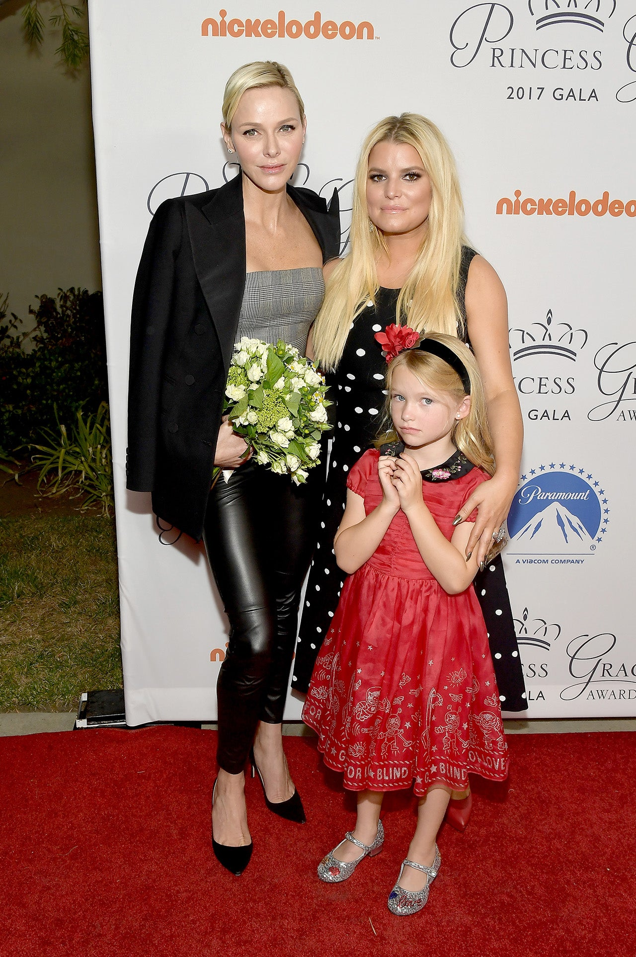 Jessica Simpson and Maxwell meet Princess Charlene