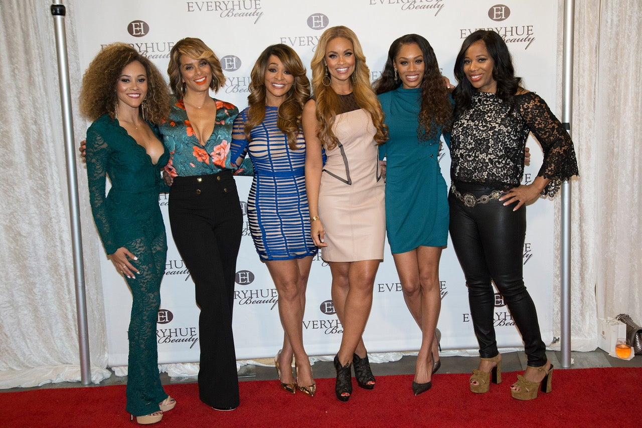 Real Housewives of Potomac cast at EveryHue Beauty pop-up event