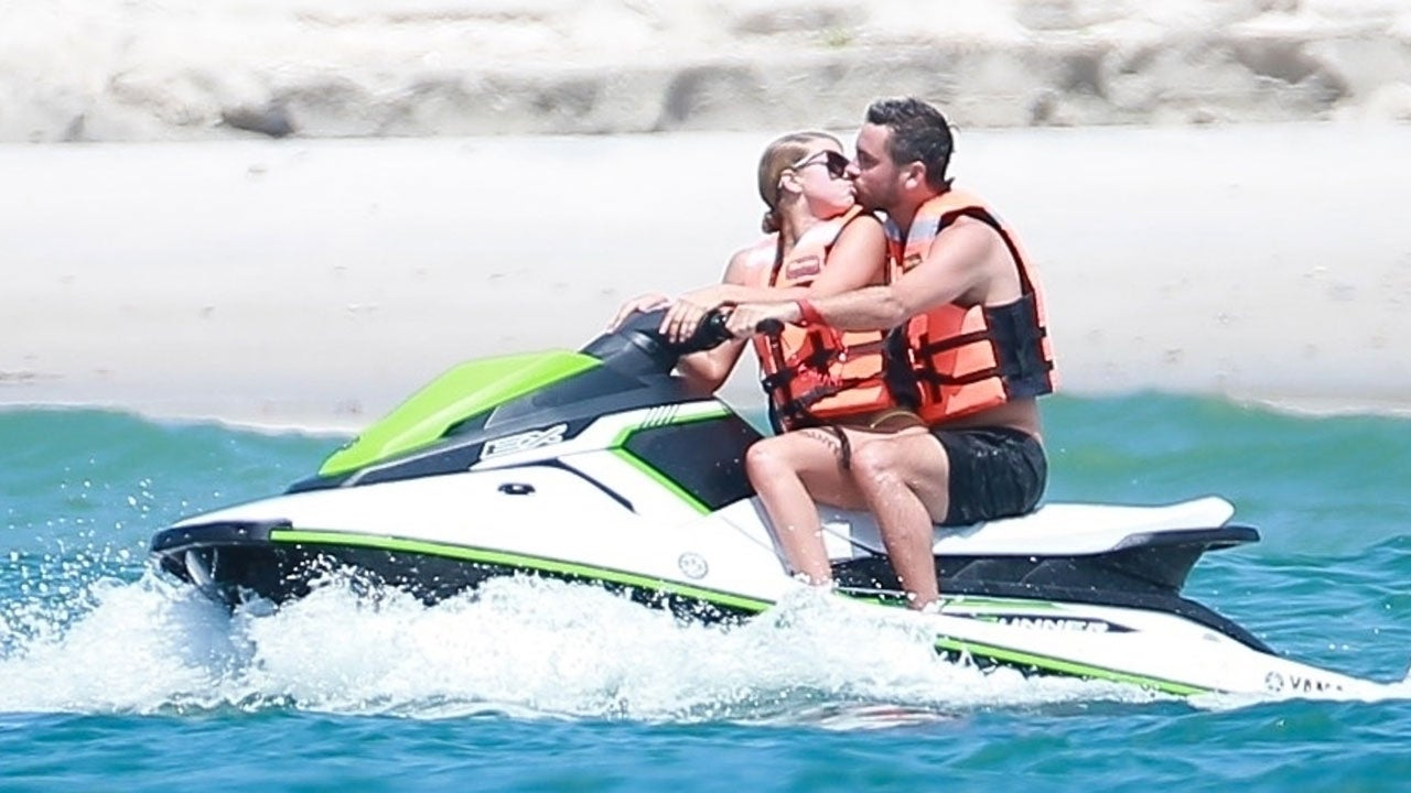Sofia Richie and Scott Disick no jet skis