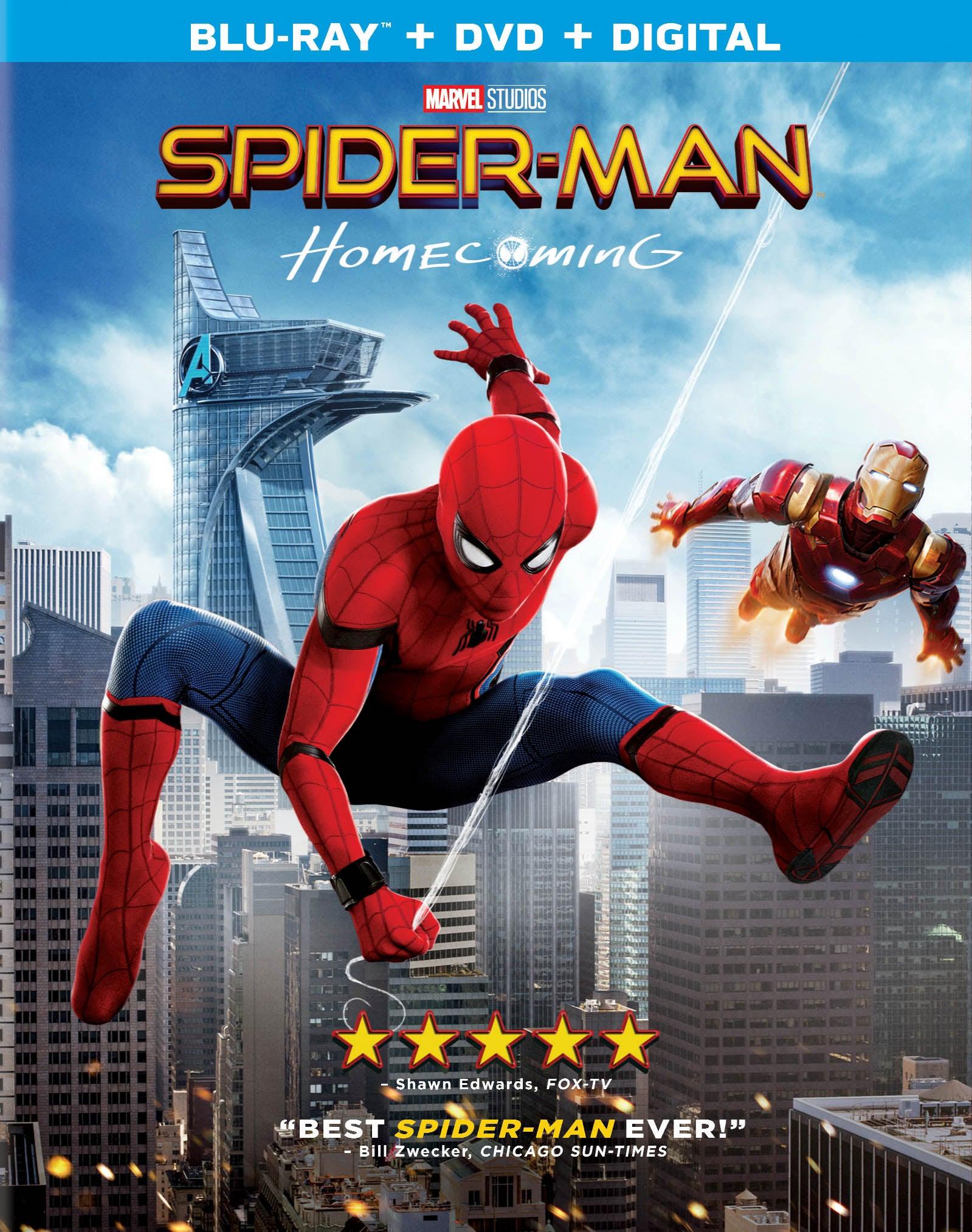 Spider-Man Homecoming Blu-ray Art