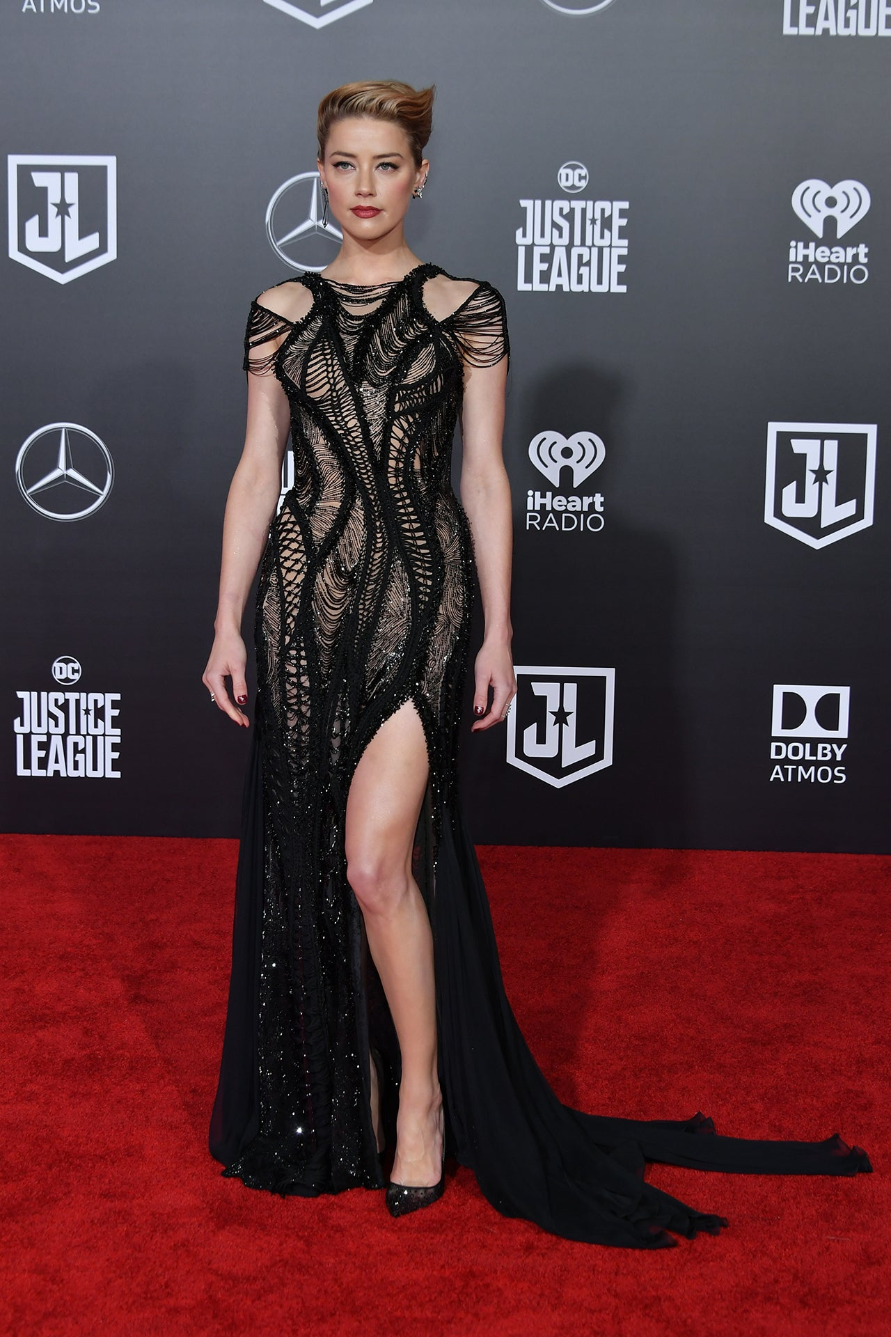 amber heard justice league premiere