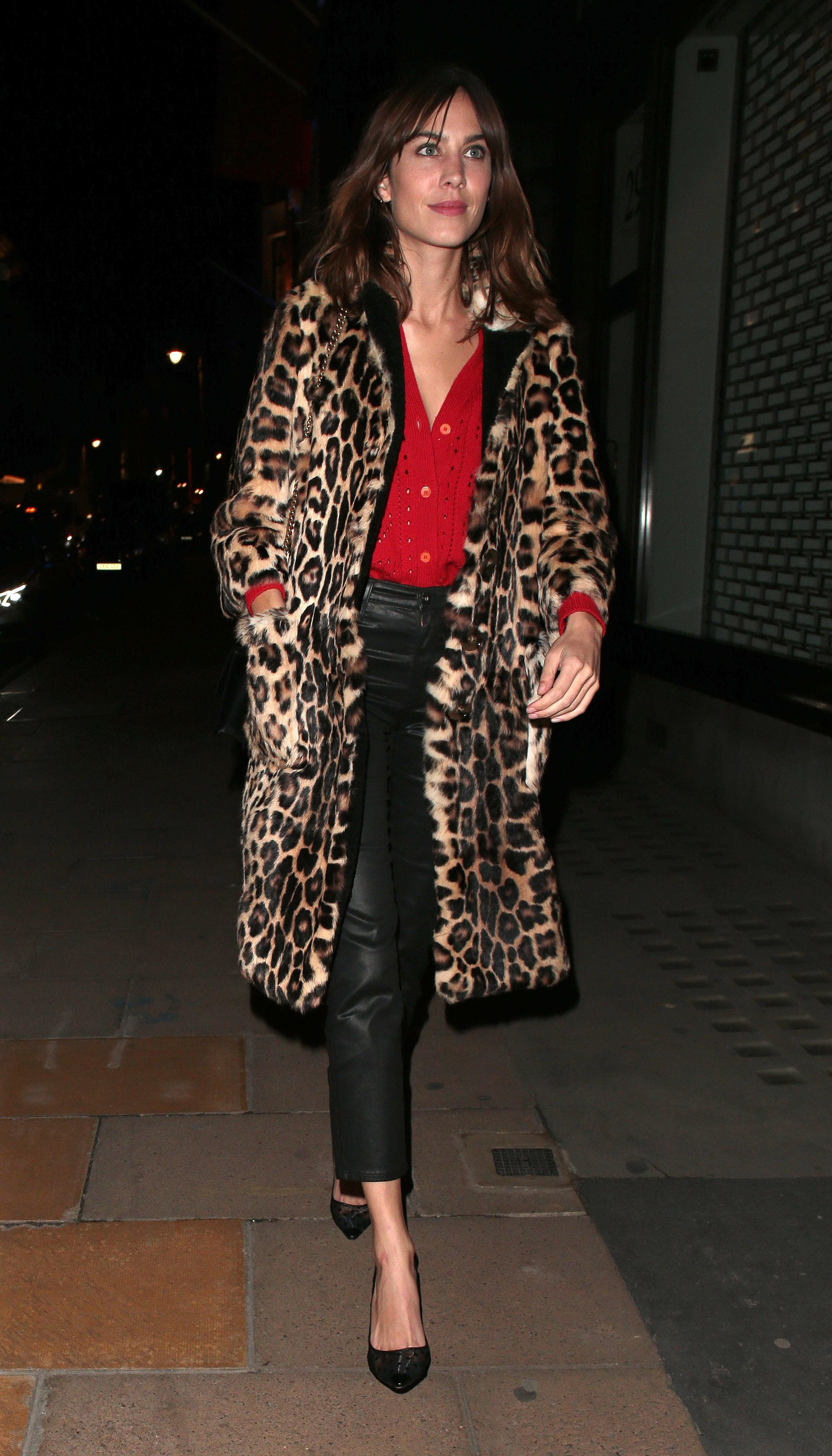 Alexa Chung in London