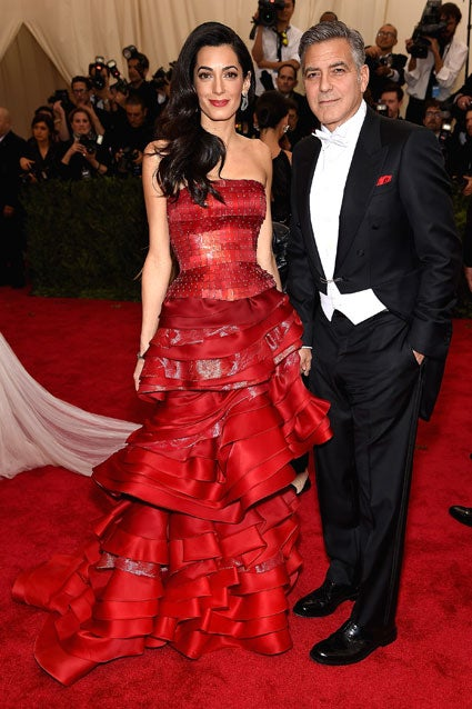 Amal and George Clooney at 2015 Met Gala