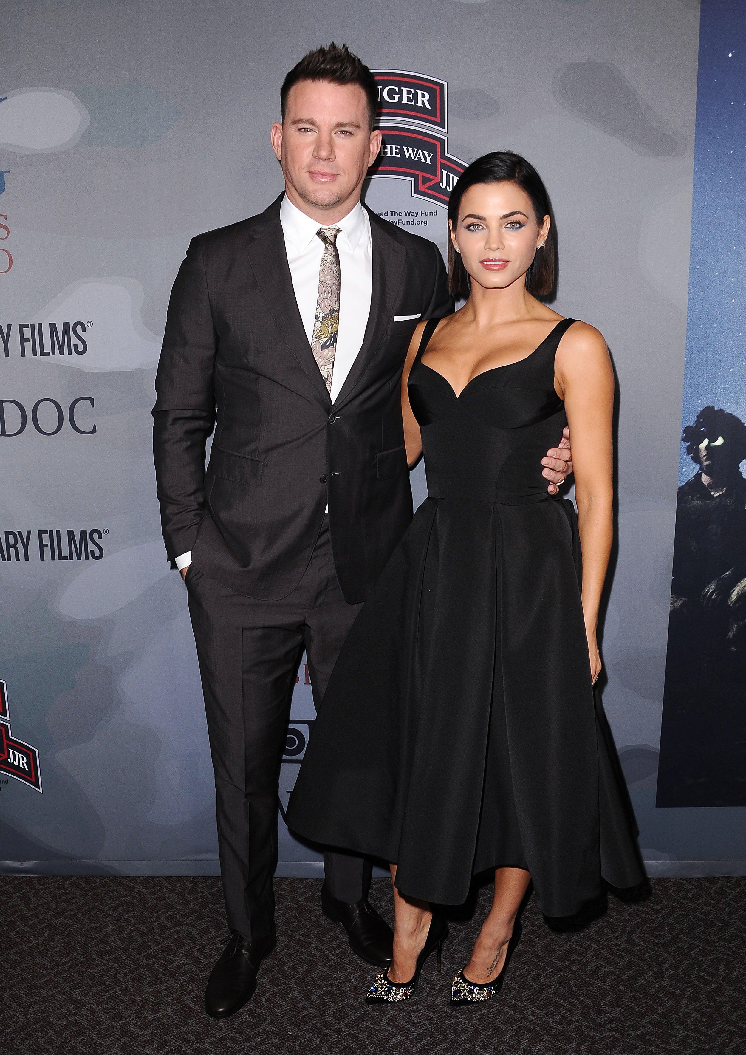 Channing and Jenna Dewan Tatum at 'War Dog: A Soldier's Best Friend' premiere