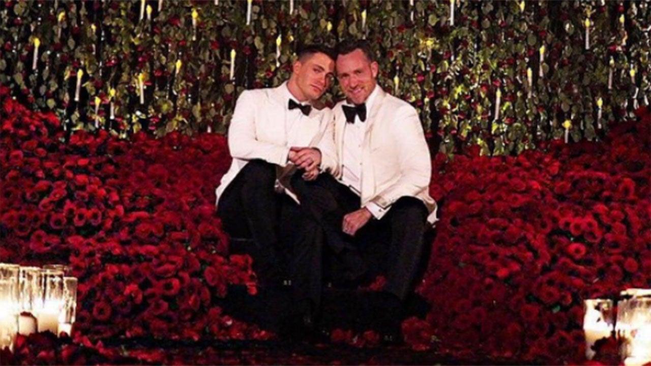 colton haynes shares tearful jeff leatham wedding video