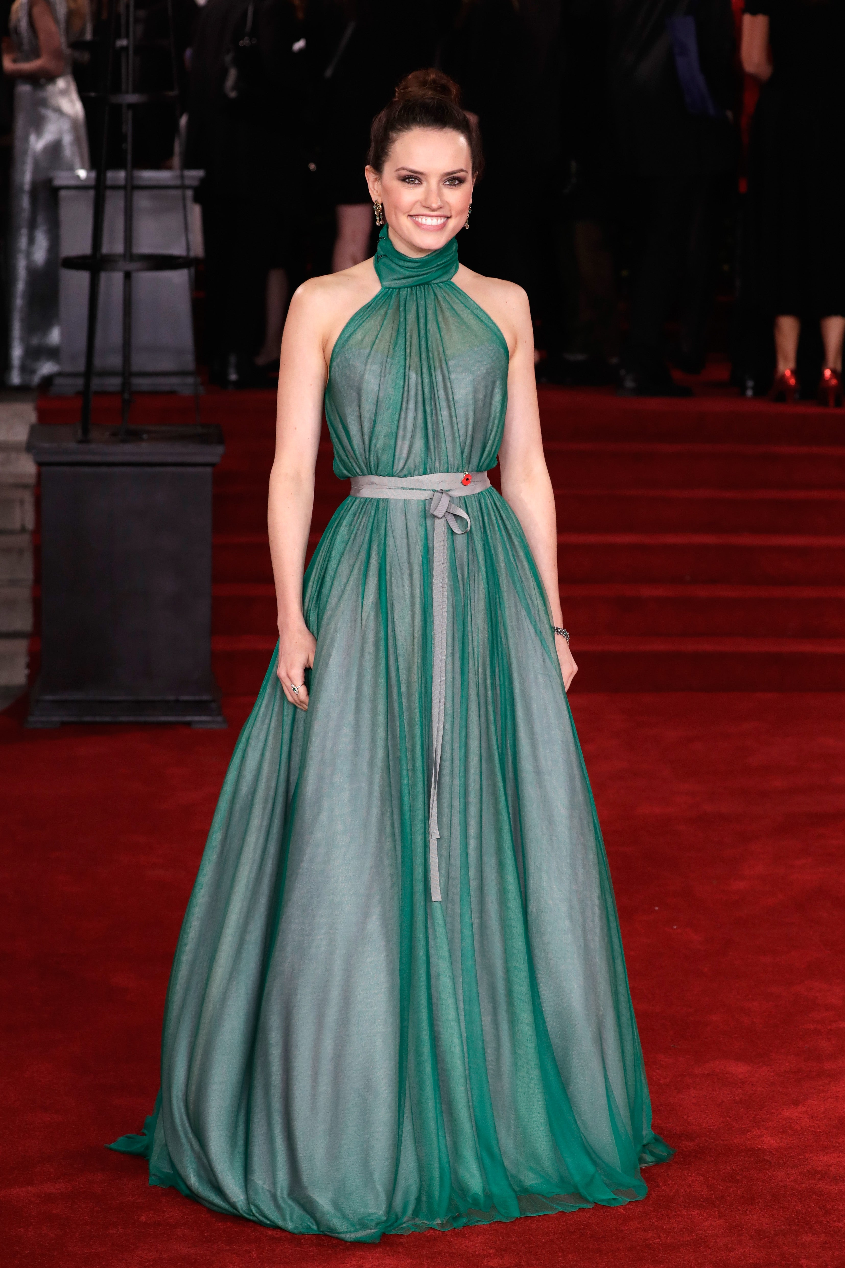 Daisy Ridley at 'Murder On The Orient Express' premiere