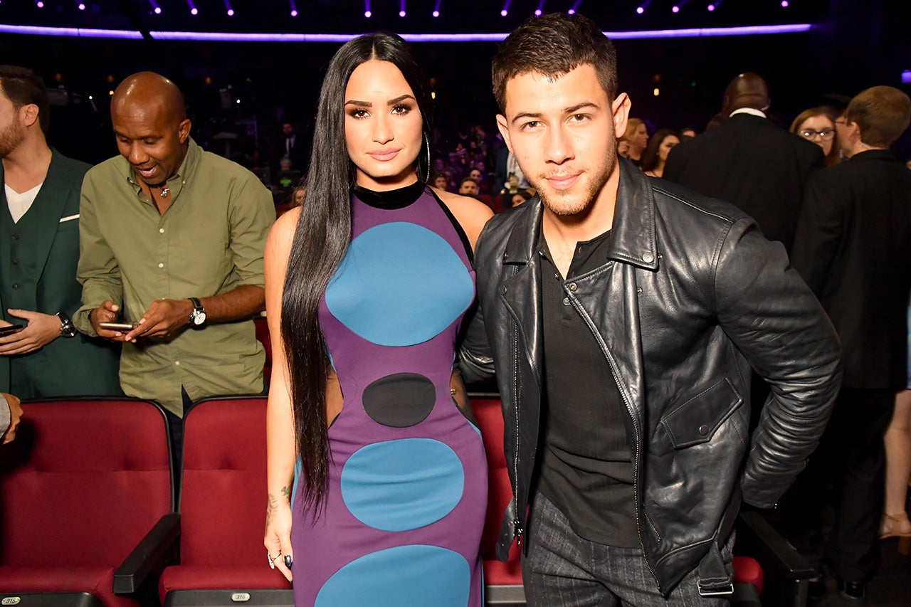 Demi Lovato and Nick Jonas at the AMAs