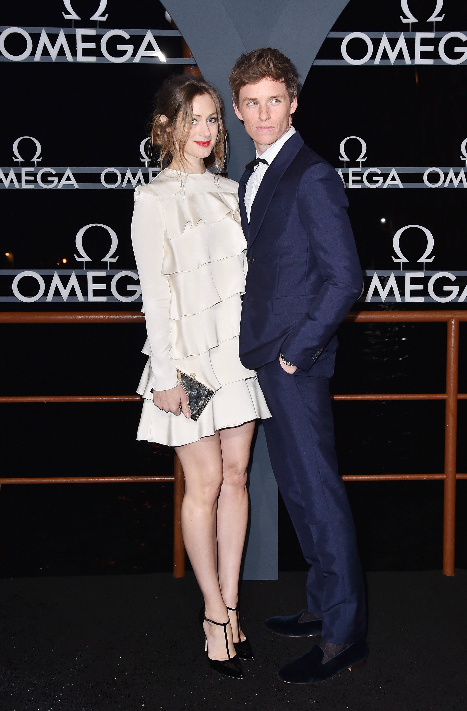 Eddie Redmayne and Hannah Bagshawe at Omega party