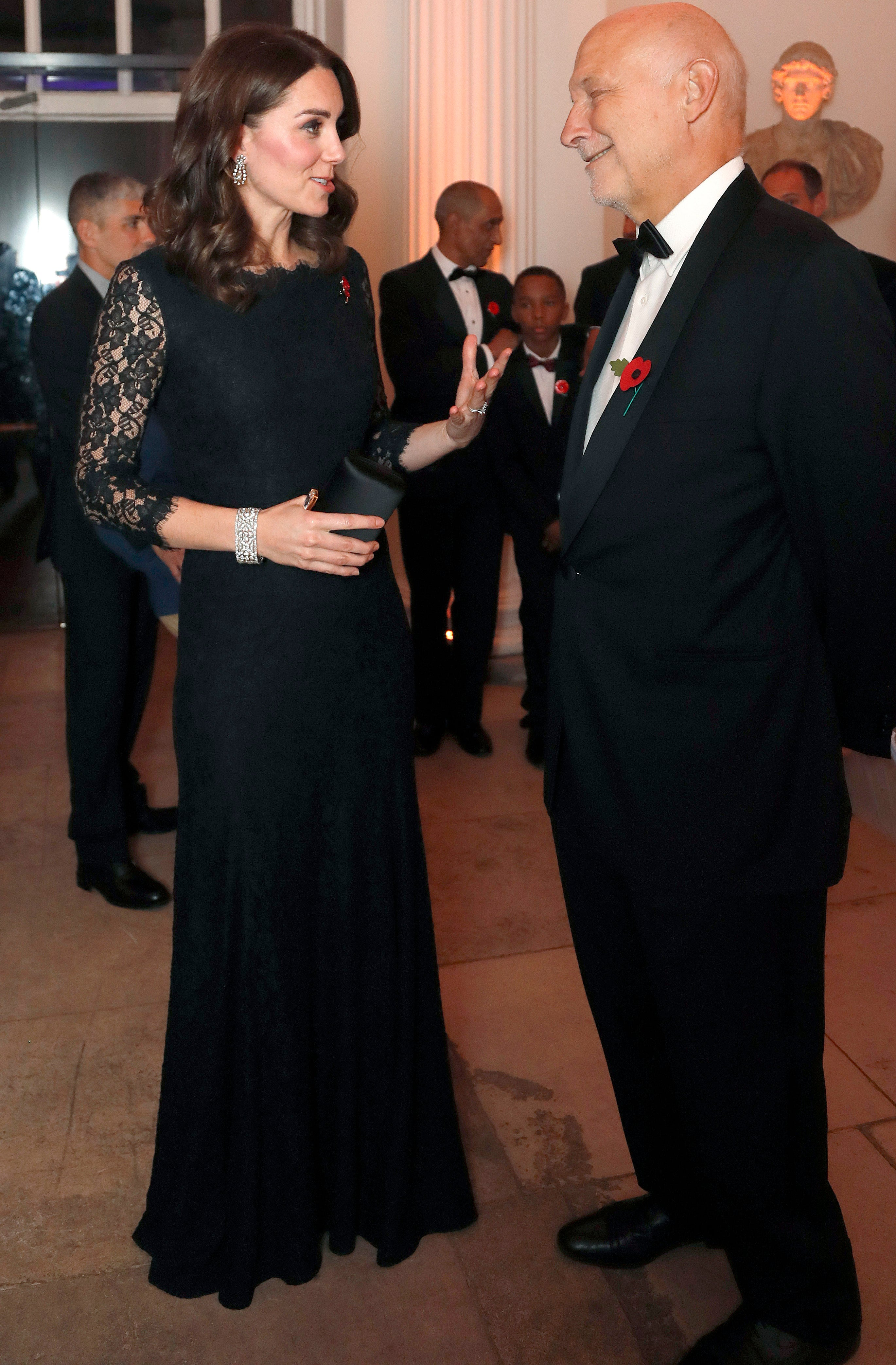 Pregnant Kate Middleton Recycles Chic Black Dress Also