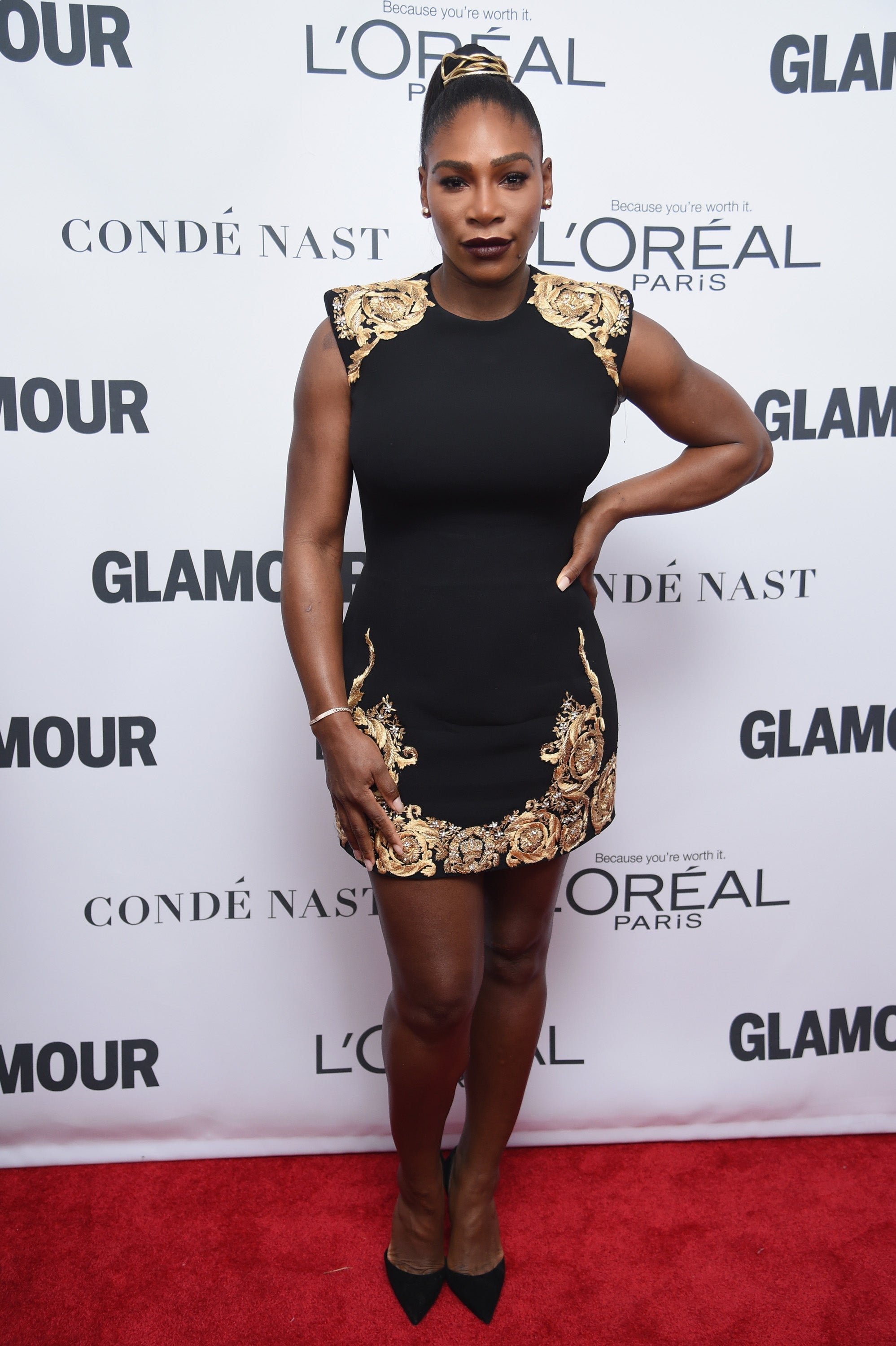 serena williams flaunts her post-baby body on first red carpet since giving birth