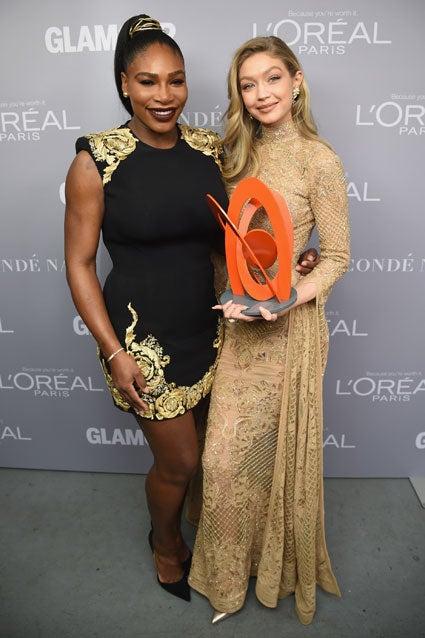 Gigi Hadid and Serena Williams