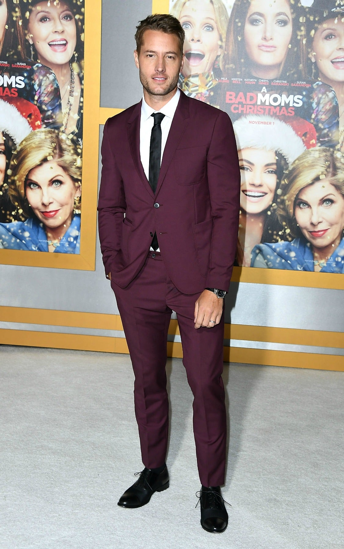 Justin Hartley at Bad Moms Christmas Premiere