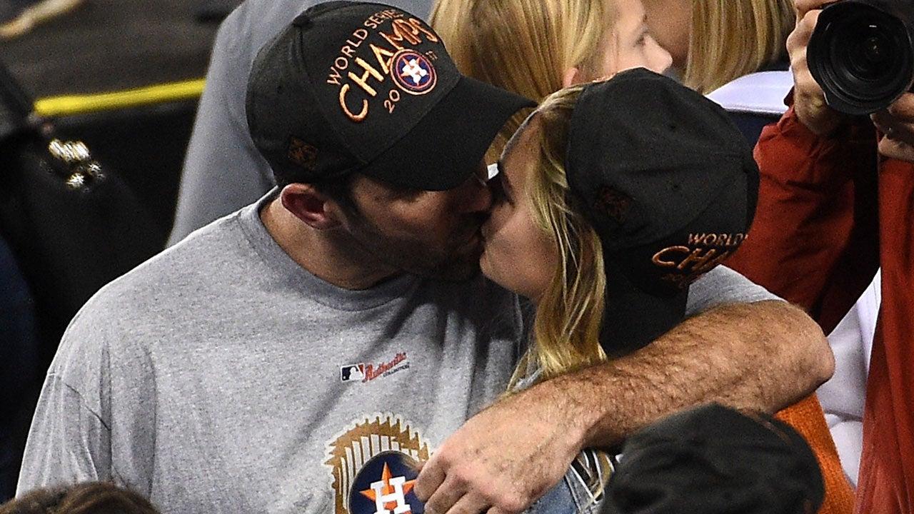 Kate Upton and Justin Verlander at World Series