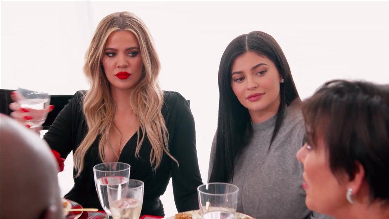 Khloe Kardashian and Kylie Jenner on 'KUWTK'