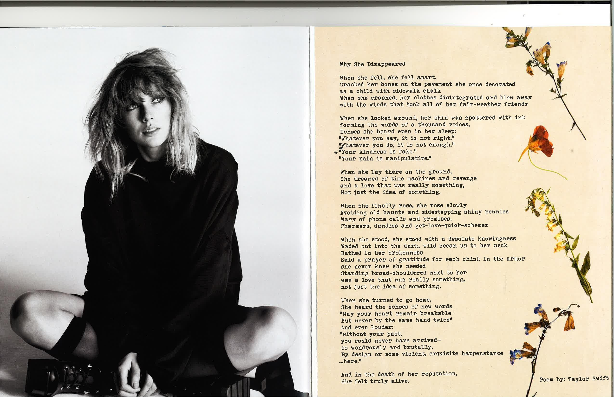 Taylor Swift Poem Why She Disappeared Reputation